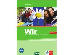 Wir 3. Grundkurs Deutsch fur junge Lerner. Lehrbuch (+ Audio CD)