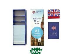 Флеш-картки English Student A1 ELEMENTARY Картки для вивчення англійських слов. 500 карток, 30 тем, 6 ігор