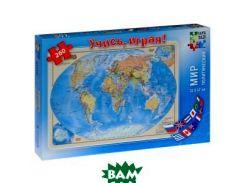 Мир политический, 33х47см, карта-пазл 1:65 млн., 260 деталей