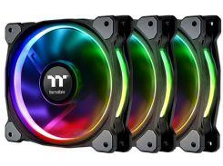 Набор вентиляторов Thermaltake Riing Plus 12 RGB Radiator Fan TT Premium Edition (комплект из 3-х) (CL-F053-PL12SW-A)