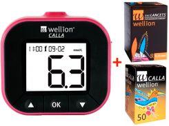 Глюкометр WELLION Calla Light blackberry + тест-полоски 50 шт + ланцеты 50 шт
