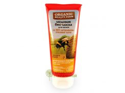 Organic Beauty Farm Маска для волос Медовая Упругость и блеск, 200 г