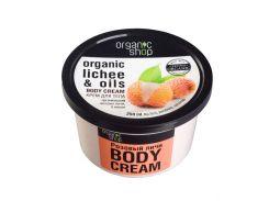 Organic Shop Крем для тела Розовый личи, 250 г