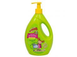 Klyaksa Средство для мытья детской посуды, игрушек, фруктов и овощей Классное антибактериальное, 700 г