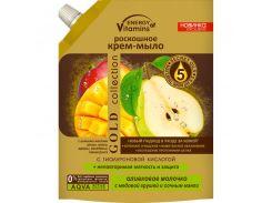 Energy of Vitamins Жидкое крем-мыло роскошное Оливковое молочко с медовой грушей и сочным манго, 450 г