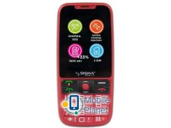 Sigma mobile Comfort 50 Elegance3 DS red (1600mAh) Госком