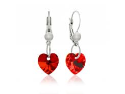 Серьги KOBI Heart Small 10*10 мм со Swarovski 7440-0129-200-32