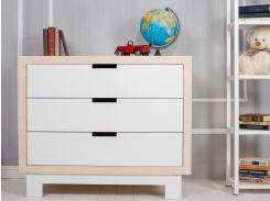 Indigo Wood116-29Комод с пеленальным столом Blocks (дерево/белое)