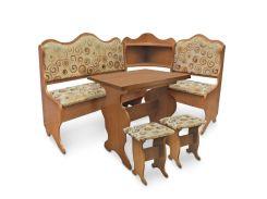 Pehotin44-6-469Кухонный уголок Корнет с раскладным столом и табуретами