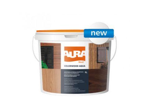 Состав декоративно-защитный для древесины Aura ColorWood Aqua каштан