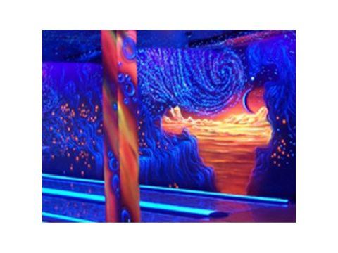 Краска флуоресцентная AcmeLight для интерьера оранжевая