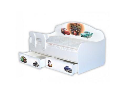 Кроватка диванчик Тачки-3 80х170 ДСП