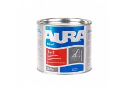 Эмаль антикоррозионная AURA 3 в 1 белая
