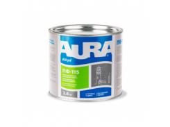 Эмаль универсальная алкидная Aura ПФ-115 темно-коричневая