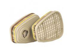 Фильтр для защиты от органических и неорганических кислых газов и паров 3M 6057