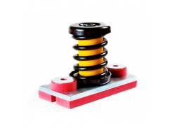 Виброизолятор с демпфером Vibrofix Spring 1 SR DSD-8 (с прокладкой из полиурет. эластомера)