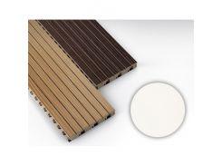 Панель декоративная акустическая MDF 4akustik ламинат белый