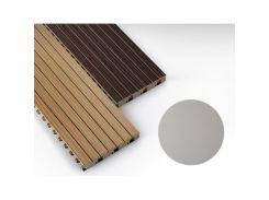 Панель декоративная акустическая MDF 4akustik ламинат серый