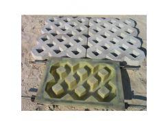 Форма для тротуарной плитки МАО Плита газонная (стеклопластик) 40*60*10