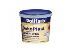 Высокоэластичная штукатурка для фасадов и интерьеров Polifarb DekoPlast Короед (2 мм) белая