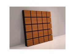 Акустическая панель Grid Грид 70 мм 50х50 см Вишня, ламинация