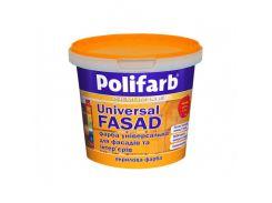 Универсальная краска для фасадов и интерьеров Polifarb Универсалфасад матовая белая