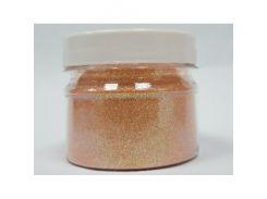 Глиттер ирис радужный GTP/0,2 мм (1/128) персиковый Tricolor
