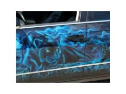Краска флуоресцентная AcmeLight для металла (2К) голубая