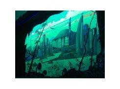 Краска флуоресцентная AcmeLight для интерьера зеленая