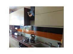 Кухонный фартук из супер чистого стекла с покраской в 3 цвета