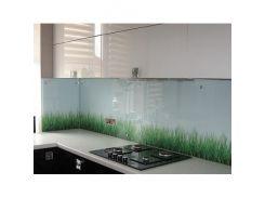 Кухонный фартук из супер чистого стекла фотопечать с вырезом
