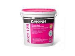 Штукатурка декоративная силикон-силикатная камешковая Ceresit CT 174 база зерно 1,5мм