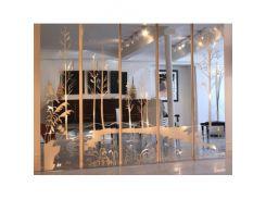 Зеркальная стеновая панель с декором
