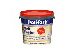 Декоративная штукатурка для фасадов и интерьеров Polifarb Akril-Plaser Барашек (1,5 мм) белая