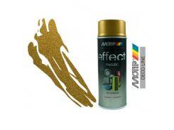 Эмаль аэрозольная с эффектом металлик Motip Deco Effect золотистая 400 мл
