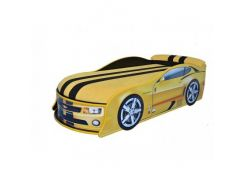 Кровать машина Camaro желтая 80х180 ДСП