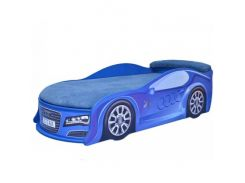 Кровать машина Audi синяя 80х180 ДСП