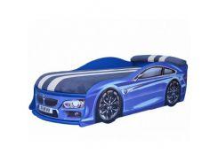 Кровать машина BMW синяя 70х150 ДСП