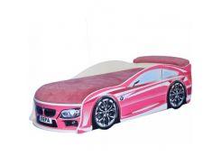 Кровать машина BMW розовая 70х150 ДСП