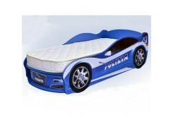 Кровать машина Jaguar полиция синяя 70х150 ДСП
