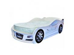 Кровать машина Jaguar белая 80х170 ДСП