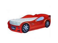 Кровать машина Jaguar красная 80х170 ДСП