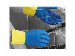 Перчатки химстойкие с двойным напылением (пара) Duo Plus POL RU560/09 размер L