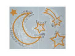 Декор для жидких обоев Луна,звезды,комета набор 5 шт