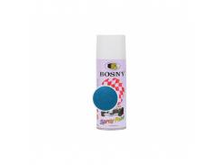 Аэрозольная акриловая краска Bosny c эффектом металлик голубая