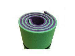 Коврик-каремат Izolon Тревел 8 180х60 зелено-фиолетовый с резинками