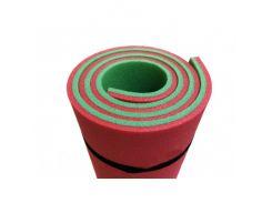 Коврик-каремат Izolon Привал 16 180х60 красно-зеленый с резинками