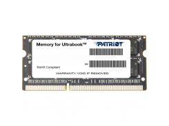 Модуль памяти для ноутбука SoDIMM DDR3 8GB 1600 MHz Patriot (PSD38G1600L2S)