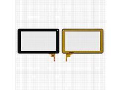 "Сенсорный экран для планшетов China-Tablet PC 7""; Cube U25GT, U26GT; Ployer Momo 9 Mrm-Power; ViewSonic ViewPad 70D, 7"", 12 pin, емкостный, черный, (186*111 мм), #FPC-TP070011(DR1334)/YC-010"