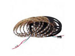 Светодиодная лента RGB SMD5050, WS2812B (c  управлением, IP65, 5 В, 60 диодов/м, 1 м)